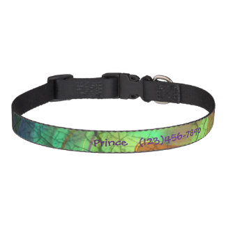 Painted Fire Opal Personalized Dog Collar