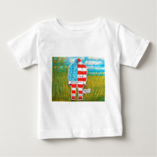 painted flag big foot Australo Baby T-Shirt