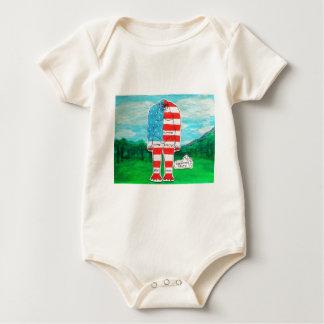 painted flag big foot homoe baby bodysuit