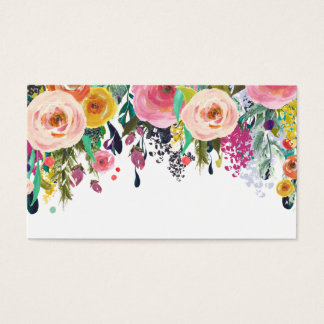 Painted Floral Blank Wedding Table Place Cards.