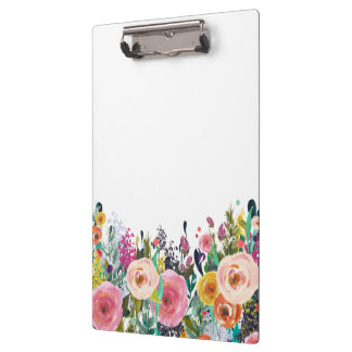 Painted Floral Florist Stylist Business Clipboard