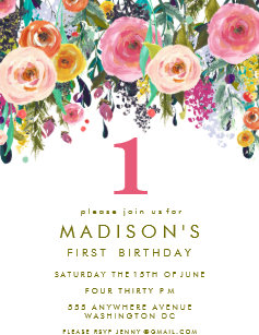 1st birthday invitations zazzle uk