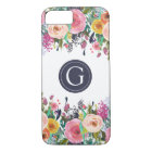 Painted Floral Monogram iPhone 7 Case