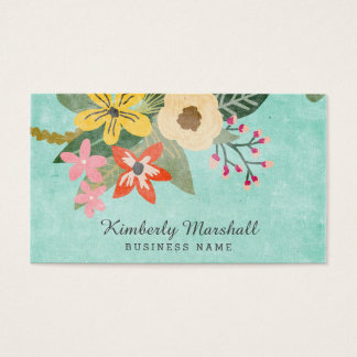 Painted Florals Business Card
