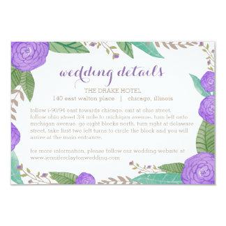 Painted Florals Wedding Enclosure Card