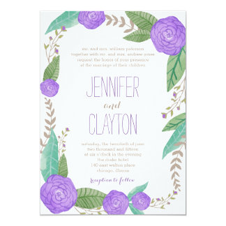 Painted Florals Wedding Invitations