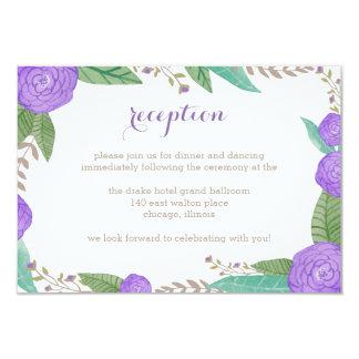 Painted Florals Wedding Reception Card 9 Cm X 13 Cm Invitation Card