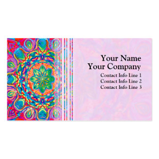 Painted Flower Business Card Template