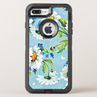 Painted Flower Design OtterBox Defender iPhone 8 Plus/7 Plus Case