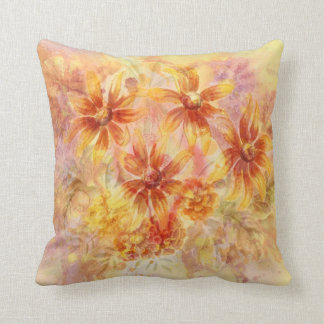 Painted flower pillow throw cushions