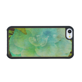 Painted Flower Carved® Maple iPhone 5C Case