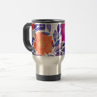 painted flowers Holiday Mug