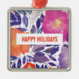 painted flowers Holiday Ornament