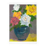 Painted Flowers in Vase Custom Stationery