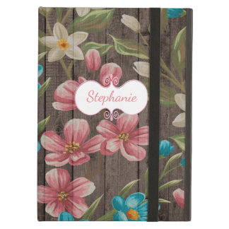 Painted Flowers on Wood iPad Air Case