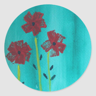 Painted Flowers Stickers