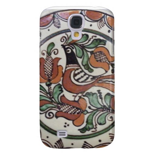 Painted Folk Art  Bird and Flowers Samsung Galaxy S4 Cases