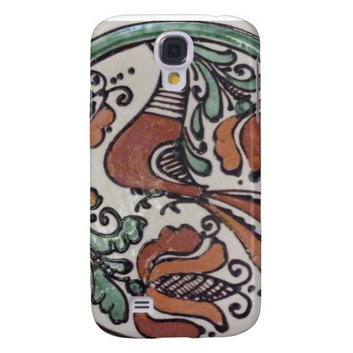 Painted Folk Art  Bird and Flowers Samsung Galaxy S4 Cover