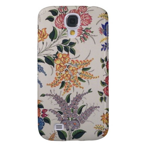 Painted Folk Art  Flowers Samsung Galaxy S4 Cover