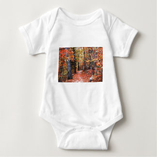 Painted Forest Autumn Trail Watercolor Gifts Tee Shirts