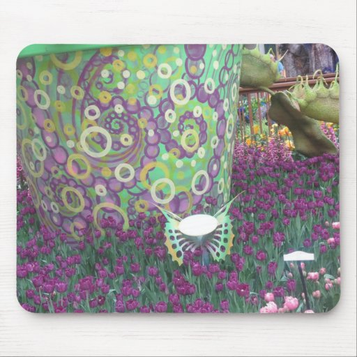 Painted Garden Wall Flowers Butterfly KIDS gifts Mousepads