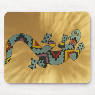Painted gecko lizard on wall, Tucson, Arizona, Mouse Mat