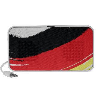 Painted german flag speaker system