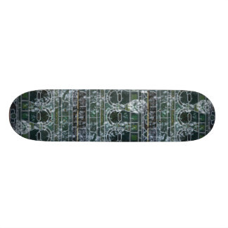 Painted glass skateboard