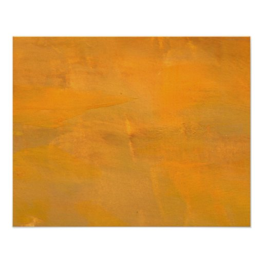 Painted Golden Grunge Abstract Poster