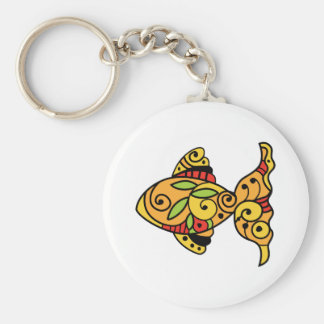 PAINTED GOLDFISH KEY RING