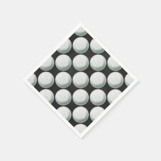 Painted Golf Ball Pattern Disposable Napkins