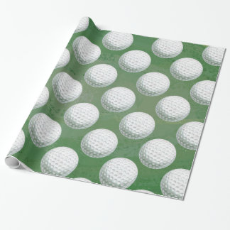 Painted Golf Ball Pattern Wrapping Paper