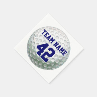 Painted Golf Ball with Name Paper Napkins