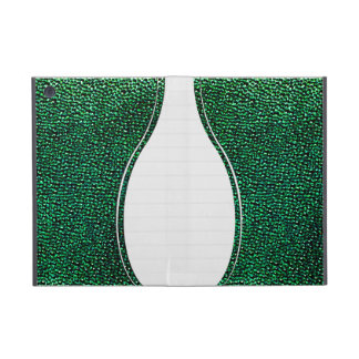 Painted green gems iPad mini cover