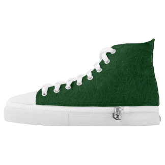 Painted green high tops