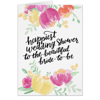 Painted Happiest Shower | Wedding Shower Greeting Card