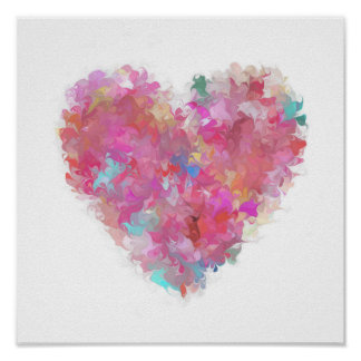 Painted Heart Poster