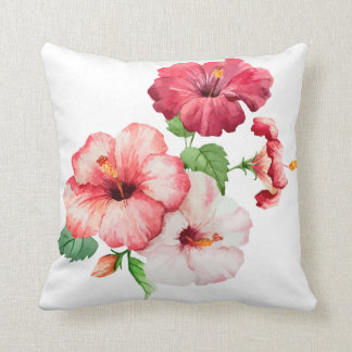 Painted Hibiscus Cushion