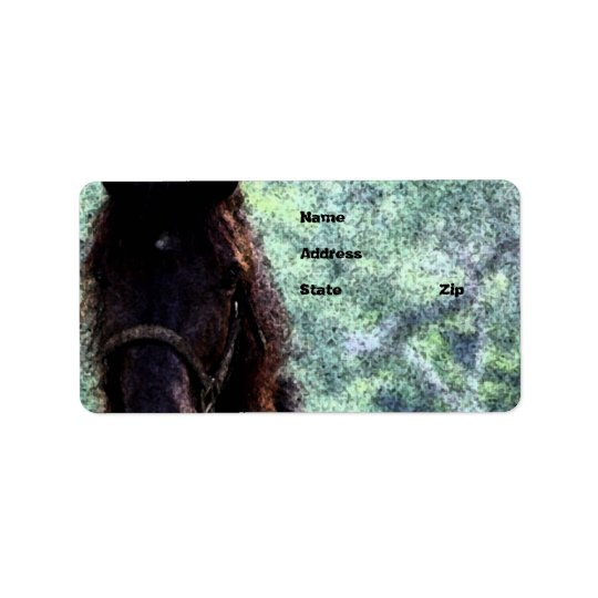 Painted Horse Address Label