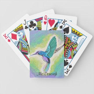 Painted Hummingbird Poker Deck