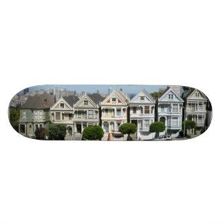 Painted Ladies Houses Steiner Street San Francisco 19.7 Cm Skateboard Deck