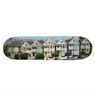 Painted Ladies Houses Steiner Street San Francisco Skate Boards