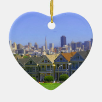 Painted Ladies in San Francisco (Tilt & Shift) Christmas Ornament