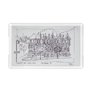 Painted Ladies | San Francisco, California Acrylic Tray