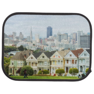 Painted Ladies, Victorian houses and skyline Car Mat