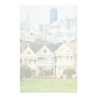 Painted Ladies, Victorian houses and skyline Customised Stationery