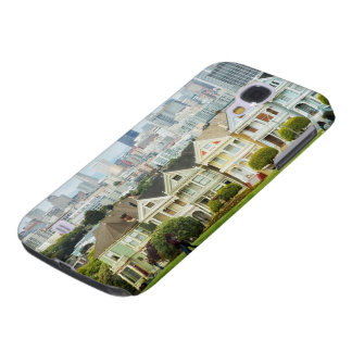 Painted Ladies, Victorian houses and skyline Galaxy S4 Case