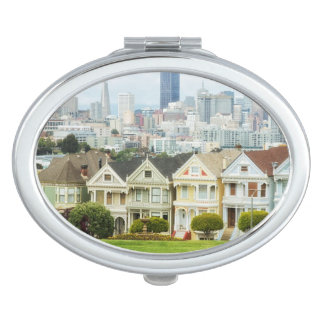 Painted Ladies, Victorian houses and skyline Makeup Mirrors