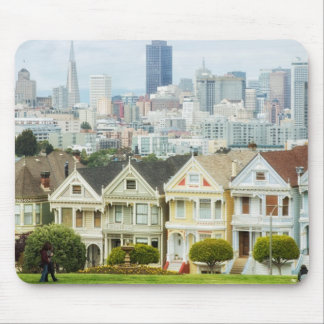 Painted Ladies, Victorian houses and skyline Mouse Pad