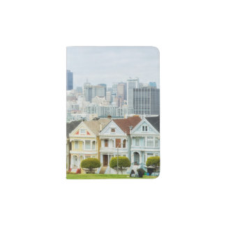 Painted Ladies, Victorian houses and skyline Passport Holder